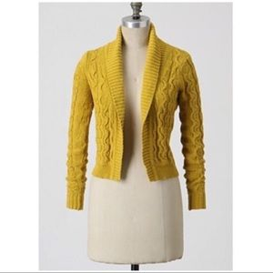 Sparrow Yellow Cropped Cardigan Size M